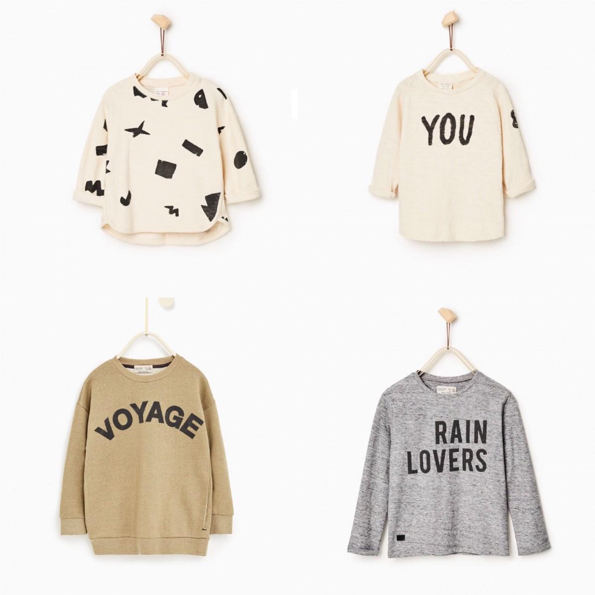 308555b7574 Clock wise from top left: Geometric Printed Plus Sweater £9.99, You & Me Top  £8.99, Rain Lovers Top £8.99, Voyage Sweatshirt £14.99