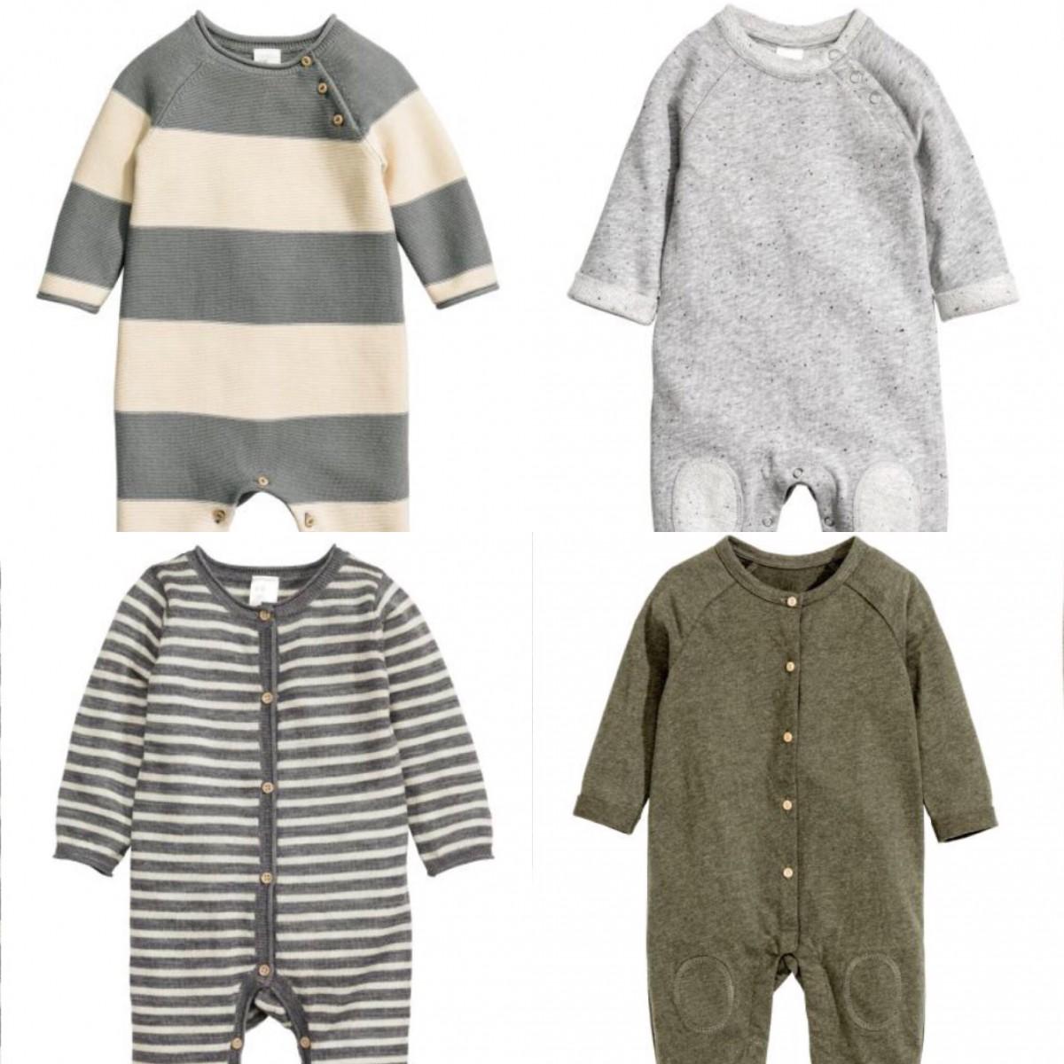 5f0312267f2 clockwise from top left: Fine-knit Romper Suit £14.99, Sweatshirt Romper  Suit £12.99, Jersey Romper Suit £9.99, Fine-knit Wool Romper Suit £19.99