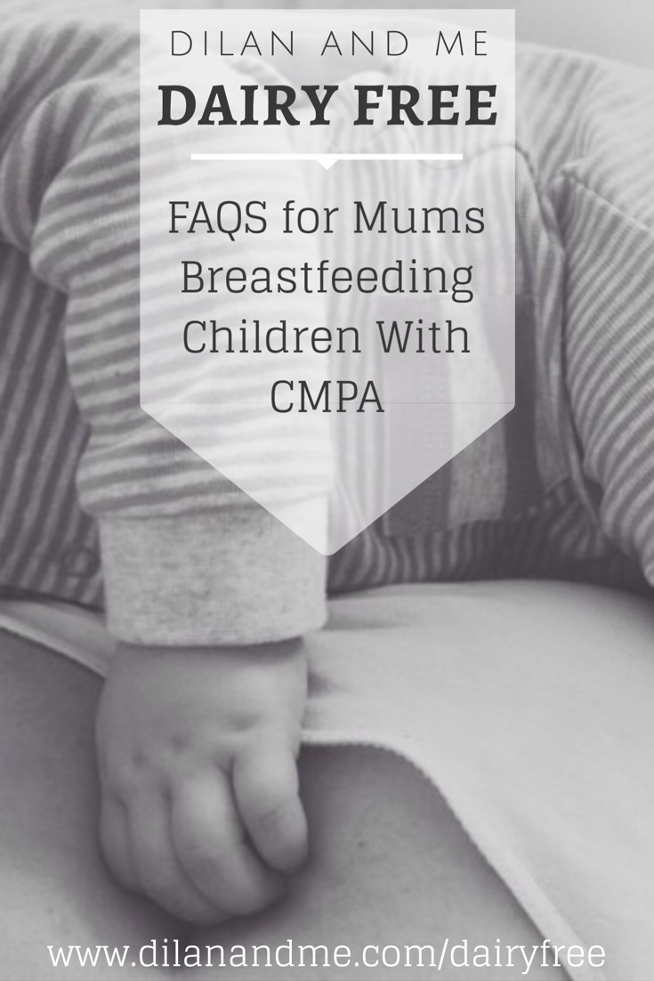 Get some answers to your first questions after a cows milk protein allergy diagnosis. If you're baby has a dairy allergy or suffers with reflux, colic, eczema etc then check out this post for some more information about breastfeeding with CMPA and support on going dairy free. Includes details on lactose intolerance, confirming CMPA and other food allergies and more. See more at dilanandme.com/dairyfree