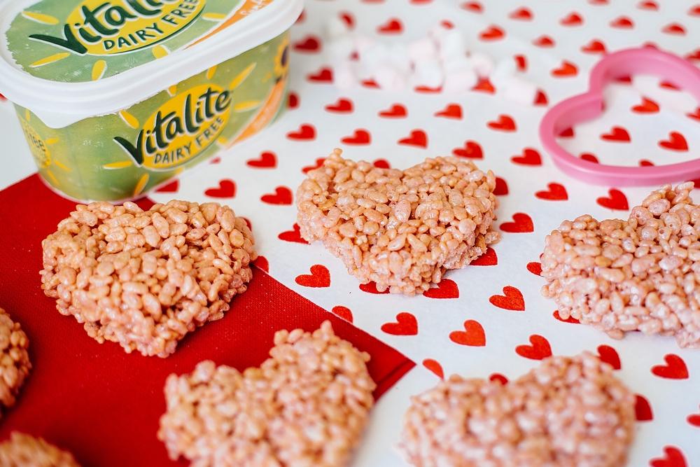 Valentine's Day baking with kids - Valentine's Day Rice Krispy Treats