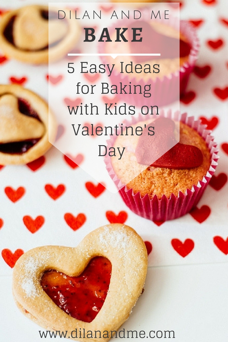 Looking for easy baking ideas for kids? Here are 5 simple baking ideas, perfect for baking with kids. All recipes are dairy free so perfect for allergy friendly baking too. Kids who love to bake will love these. Great for Valentine's Day but perfect for all year round too! See more at dilanandme.com