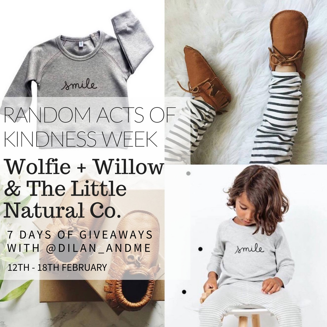 Win Wolfie + Willow moccasins and OrganicZoo smile jumper from The Little Natural Co