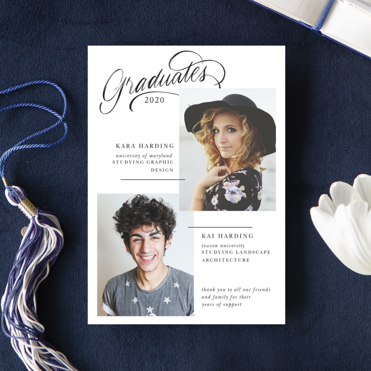 Graduation Invitations party template from Basic Invite